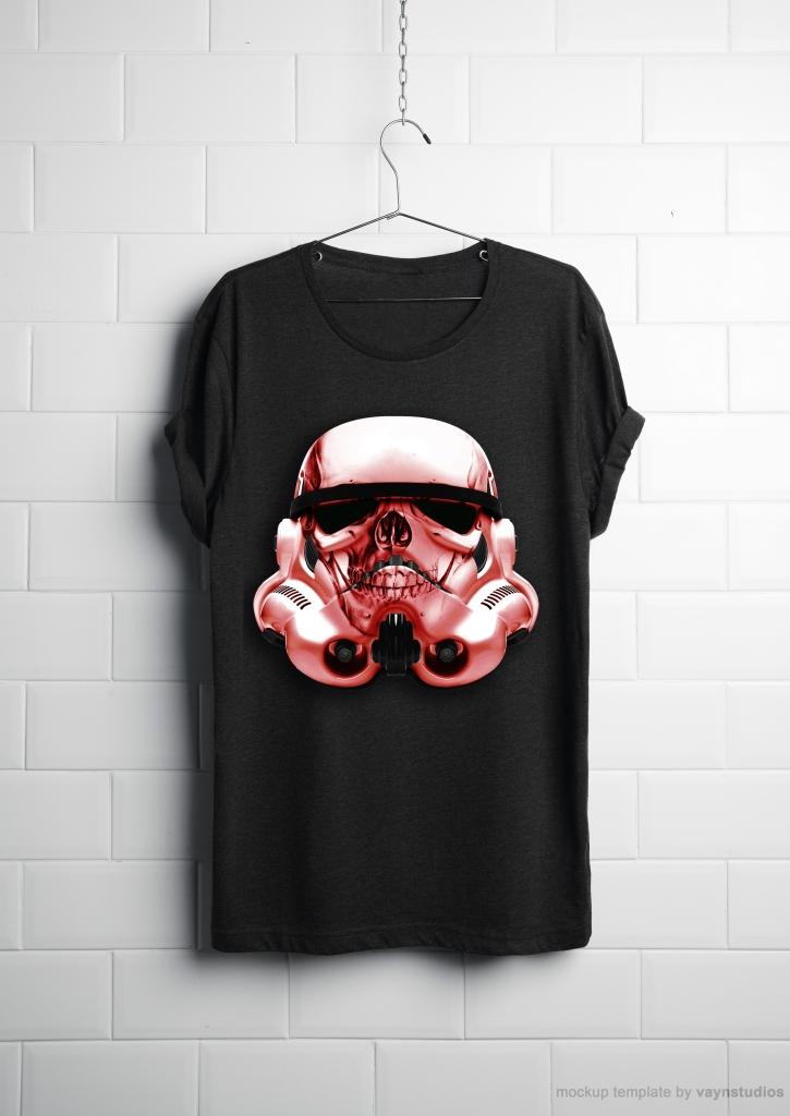 Realistic T-shirt PSD